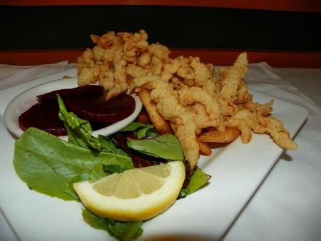 Fried clams with french fries